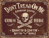 Don't Tread On Me - Gun for Hire Tin Sign Tin Sign