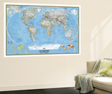 2012 World French Map Vægplakat af  National Geographic Maps