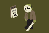 Friday the 12th Snorg Tees Poster Posters by  Snorg
