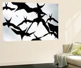 Frigatebirds Against a Thundercloud Sky Poster géant par Mattias Klum