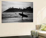 Female Surfer Heading Out Fototapete von Simeon Rodgers