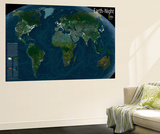 2004 Earth at Night Wall Mural by  National Geographic Maps
