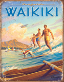 Hawaii - Surfside Tin Sign Placa de lata