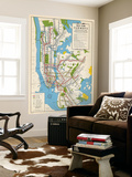 1949, New York Subway Map, New York, United States Wall Mural