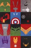 Avengers - Minimalist Grid Pôsters