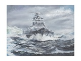 Bismarck Off Greenland Coast 1900Hrs, May 23, 1941 Reproduction procédé giclée par Vincent Booth