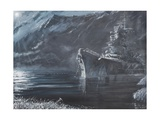 The Lone Queen of the North, Tirpitz, Norway 1944 Reproduction procédé giclée par Vincent Booth