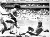 1986 World Cup Quarter Final: England vs Argentina Photographic Print