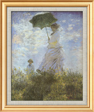 Woman with Parasol and Child Poster af Claude Monet