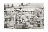 Hotel 'La Reserve' Geneva Reproduction procédé giclée par Vincent Booth