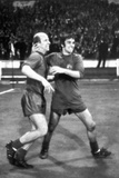 Bobby Charlton Celebrating with George Best, May 1968 Photographic Print