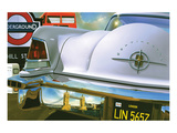 Lincoln Continental '56 in London Posters av Graham Reynold
