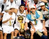 2014 NBA Finals Game Five: Jun 15, Miami Heat vs San Antonio Spurs - Tony Parker, Tim Duncan Foto af Garrett Ellwood