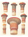 Chapiteaux égyptiens Art par Owen Jones