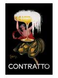 Reclameposter Contratto Poster van Leonetto Cappiello