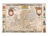 Antique Map, Nova Europa, 1652 Kunst af Nicholas Visscher