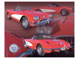 1958 Corvette Pósters