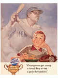 Wheaties, Boy Eating Cereal Poster