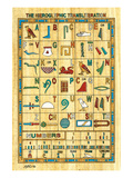 Hieroglyphic Transliteration Pósters