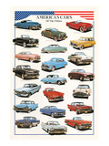 American Cars of the Fifties Affiches
