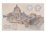 Rome, St. Peter's Basilica Affischer av L. Derrien