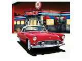 Ford Thunderbird '55 Posters av Graham Reynolds