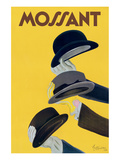 Reclameposter hoeden, Chapeau Mossant Poster van Leonetto Cappiello