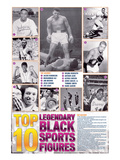 Legendary Black Sports Figures Stampe