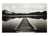Emigrant Lake Dock I in Black and White Affischer av Shane Settle