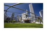 Frank Gehry Opera House Millennium Park Chicago Fotografisk tryk af Henri Silberman