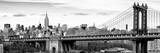 Panoramic Landscape View of Midtown NY with Manhattan Bridge and the Empire State Building Reproduction photographique par Philippe Hugonnard