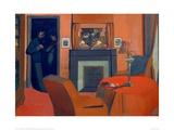 O quarto vermelho Impressão giclée por Félix Vallotton
