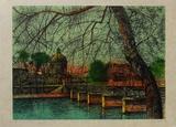 Paris Pont des Arts II Limitierte Auflage von Jean Carzou