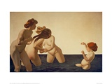 Three Women and a Girl Giclee Print by Félix Vallotton