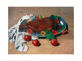 Still life with Ham and Tomatoes Giclee Print by Félix Vallotton