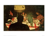 The Dinner, Lighting Reproduction procédé giclée par Félix Vallotton