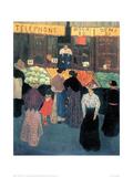 At the Market Impressão giclée por Félix Vallotton
