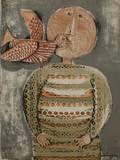 Enfant avec un oiseau III Collectable Print by Graciela Rodo Boulanger