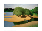 Sandbanks on the Loire Giclée-Druck von Félix Vallotton
