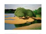 Sandbanks on the Loire Impressão giclée por Félix Vallotton
