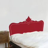 Baroque Headboard - Dark red Wall Decal Wall Decal
