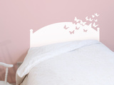 Butterflies by Night White Headboard Decal Wall Decal