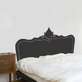 Baroque Headboard - Dark grey Wall Decal Wall Decal