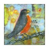 Robin Still Life Art par Blenda Tyvoll