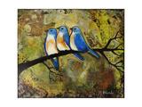 Print Art Bluebird Trio Posters af Blenda Tyvoll