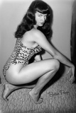 Bettie Page Vixen Pin-Up by Retro-A-Go-Go Poster Posters
