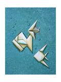 Origami School Prints by Cindy Thornton