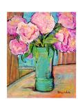 Pivoines roses Affiche par Blenda Tyvoll