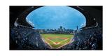 Wrigley Field Night Game Chicago Reproduction photographique par Steve Gadomski