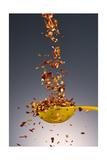 1 Tablespoon Red Pepper Flakes Fotografisk trykk av Steve Gadomski